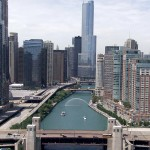 A view north on the Chicago River