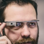Victor Mateevitsi wearing Google Glass