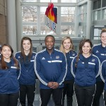 Women's soccer team and coaches