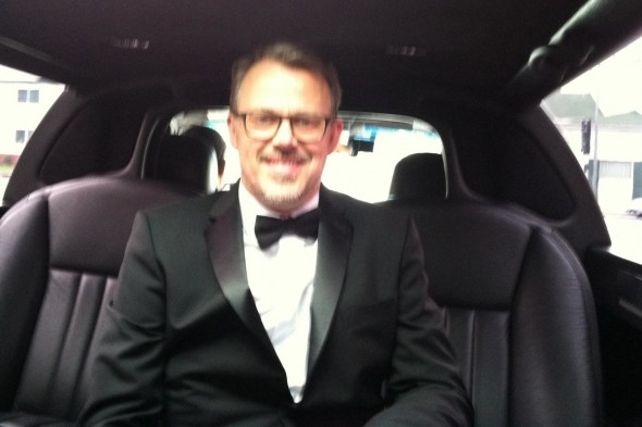 Edgar Barens on his way to the Academy Awards