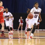 Ruvanna Campbell leads the team down the court