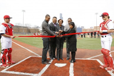 Ribbon cutting for Curtis Granderson Stadium