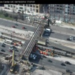Morgan Street construction on UIC webcam