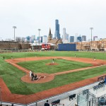 Curtis Granderson Stadium and Chicago skyline