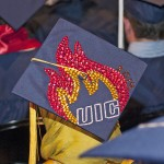 Graduation cap with Flames logo