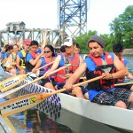 UIC Pyro Paddlers in Dragon Boat Race