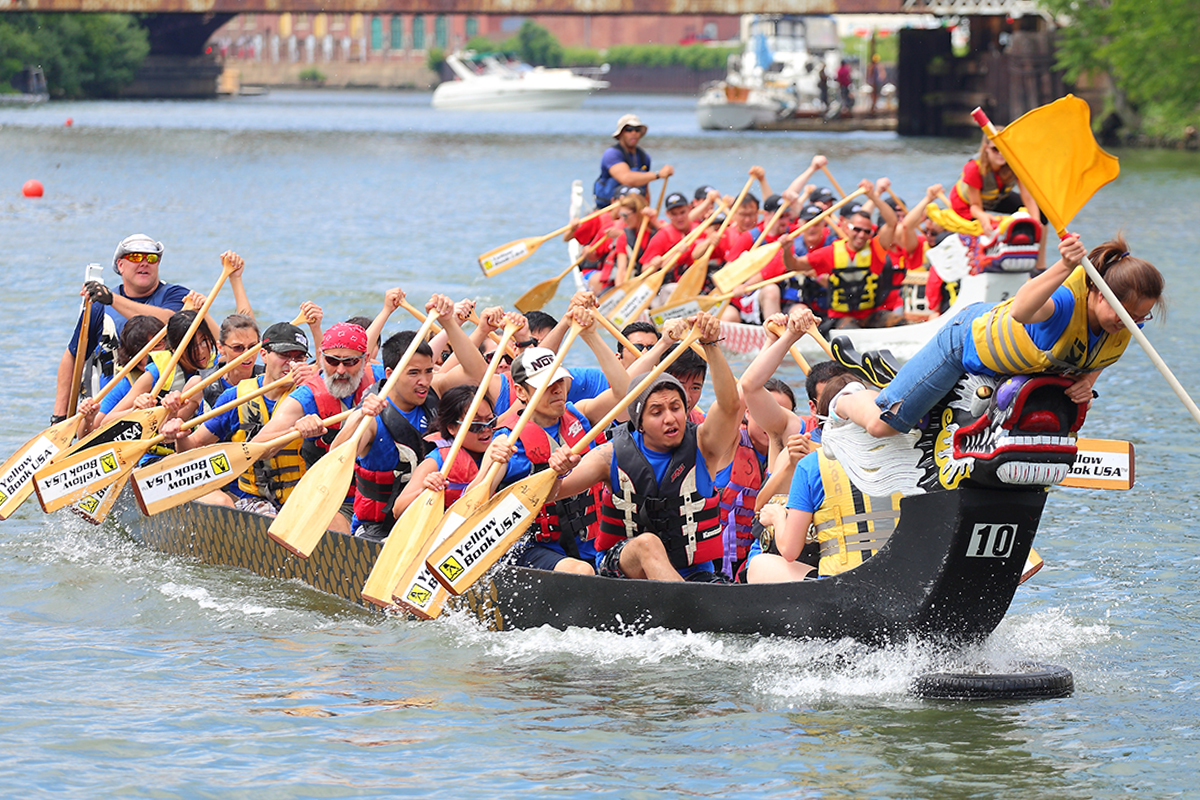 Fired-up Pyro Paddlers make a splash at dragon boat races ...