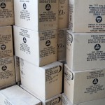 Boxes of civil fefense survival rations