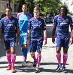 Members of the Chicago Fire soccer team
