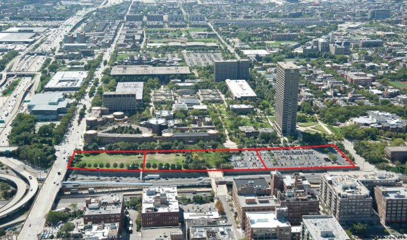 Proposed site of Obama Presidential Library at UIC: Harrison and Halsted