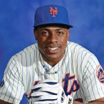 Curtis Granderson's official player photo for the Mets