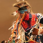 Native American man dancing