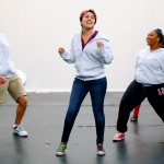 Students practice a performance at UIC Theatre Summer camp