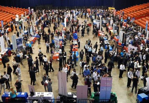 Crowd at diversity career day