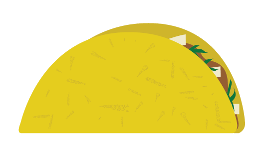 illustration of a taco