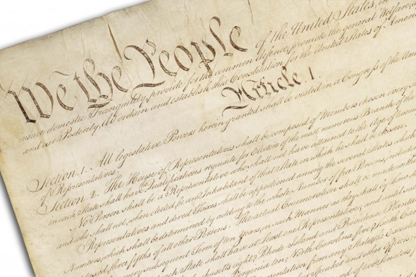 top of the U.S. Constitution