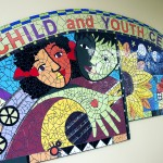 Mural in the inpatient unit of Children's Hospital University of Illinois