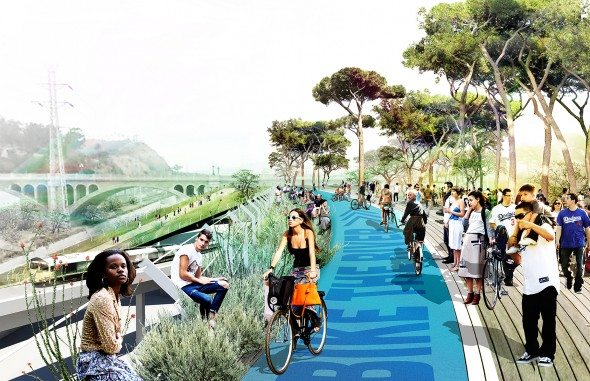 "rendering for LA River ""Greenway"""
