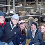 Rural Medicine Program students on a farm