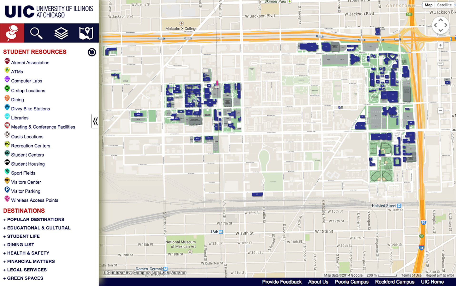 Uic Campus Map Find directions, resources with interactive campus map   UIC Today Uic Campus Map