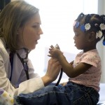 Physician and young patient