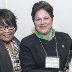 UIC Chancellor Paula Allen-Meares receives award from Patricia Maza-Pittsford, dean of the Chicago Consular Corps