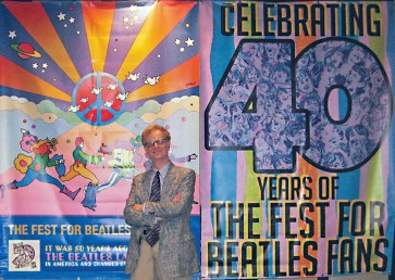 Wally Podrazik, faculty member in communication, at Los Angeles Beatles convention