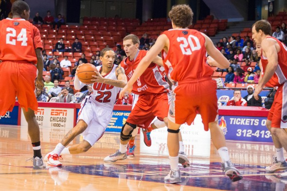 UIC Flames men's basketball vs St. Xavier at UIC Pavilion. 22 Jay Harris