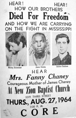 Poster honoring Mickey Schwerner, James Chaney, Andrew Goodman
