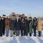 UIC and North Lawndale leaders meet Chicago Mayor Rahm Emanuel at the proposed Obama Presidential Library site.