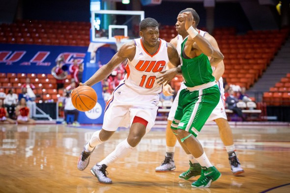 UIC Flames men's basketball vs Cleveland State.  No. 10 Marc Brown