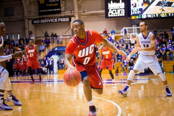 UIC vs Northwestern D'Juan Miller