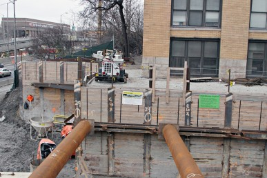 Construction site next to CUPPA Hall