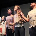 Theatre Camp students singing