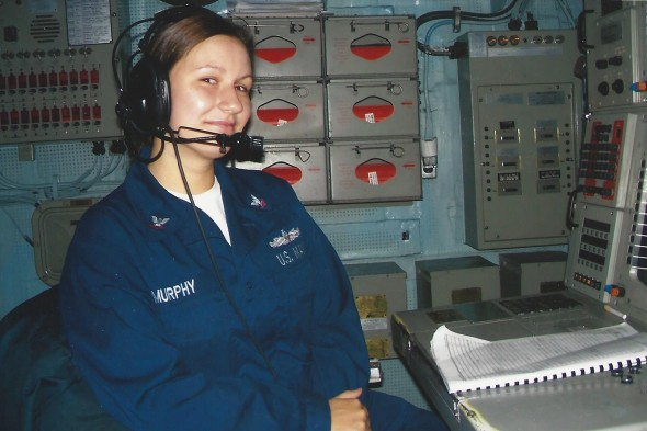 Aneta Murphy in the Navy