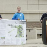 Students present their winning work for the Campus RainWorks Challenge