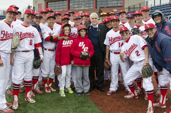 Timothy Killeen, UIC Flames baseball team, and ball boys
