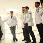 Medical residents and medical students on rounds