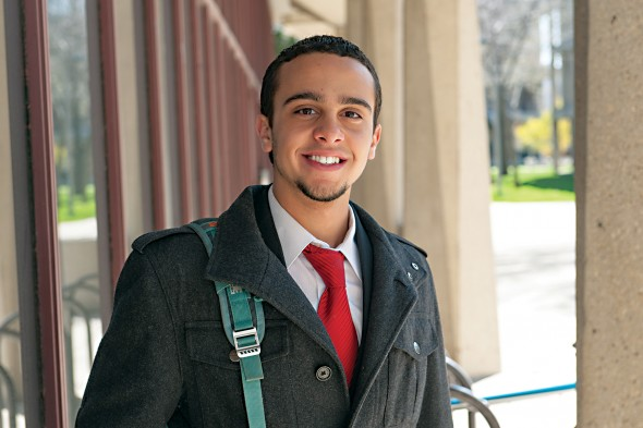 Usama Ibrahim, a dual-degree candidate in neuroscience and political science at UIC.