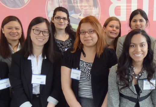 UIC female students visit United Way offices in a mentorship program sponsored by the Chicago Women's Network.