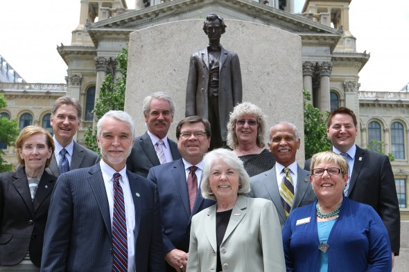 Illinois public higher education leaders in Springfield
