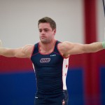 "UIC Men's Gymnastics: Trent Jarrett, who competed as a contestant on ""American Ninja Warriors"""
