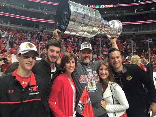 Mike Gapski and Family & the Stanley Cup