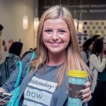 Katya Ratneva, junior in economics, gets her coffee at Argo Tea