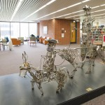 Sculpture of Don Quixote, Library of the Health Sciences