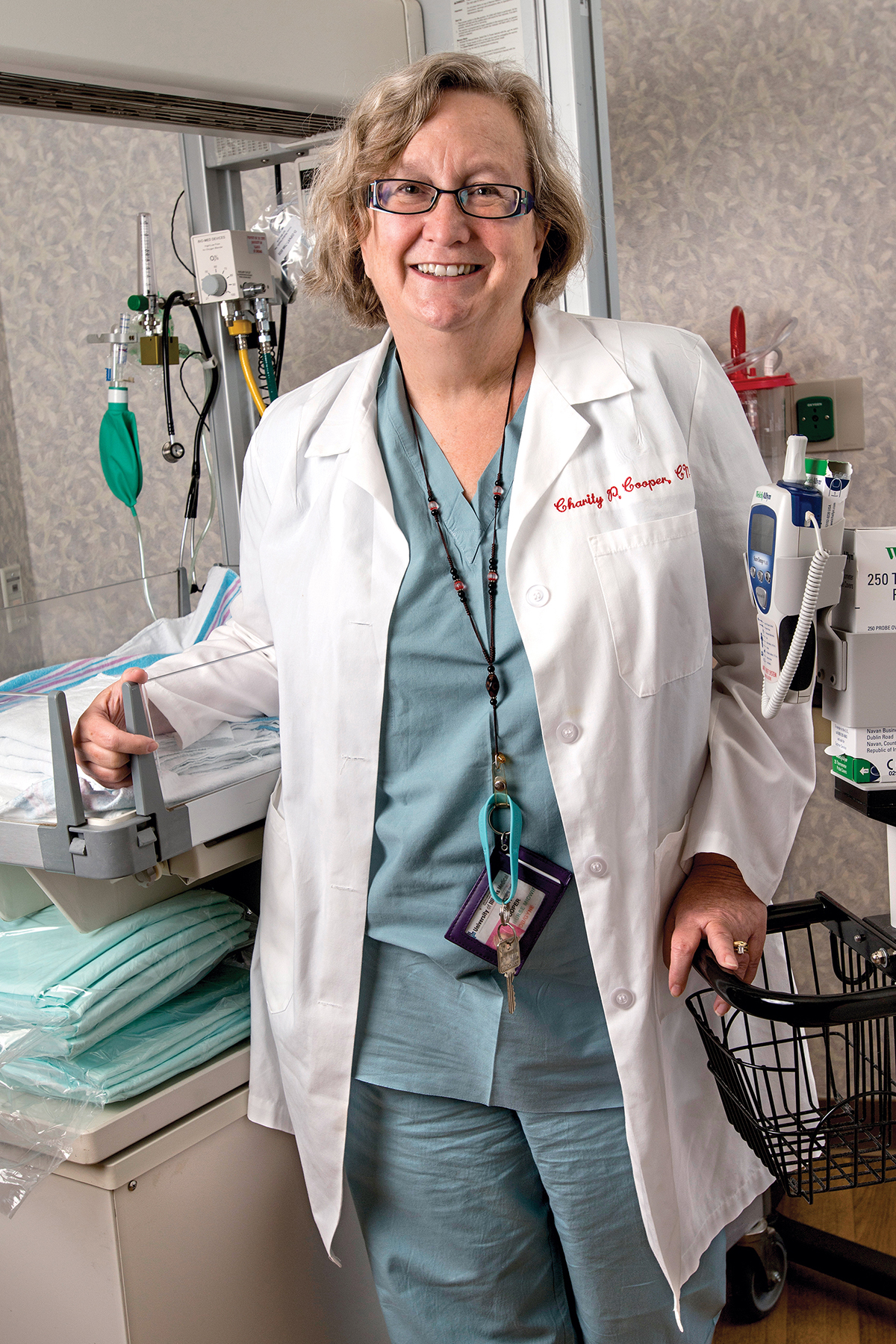 Charity Cooper, 1978 MSN College of Nursing alumna, nurse-midwife.