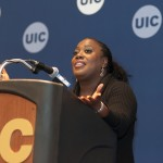 "9/9/15 Sheryl Underwood, comedian, UIC graduate and host of ""The Talk"" CBS daytime show, visits campus"