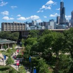 UIC campus and Chicago skyline