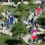 UIC campus on first day of fall semester 2015.
