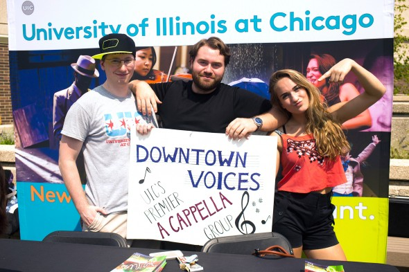 members of Downtown Voices, an a capella group